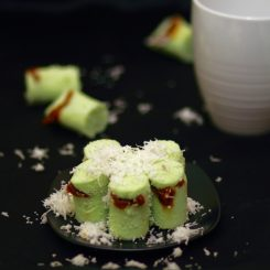 Putu; the sweet (green) snack